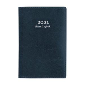 Liten Dagbok blått konstläder