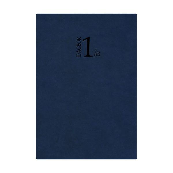 1-årsdagbok blått konstläder